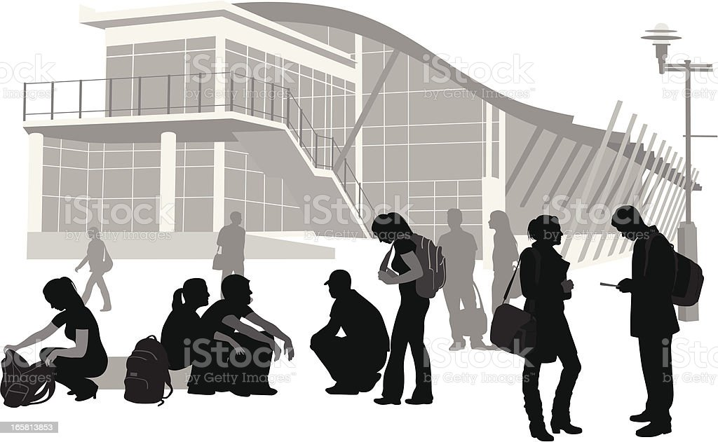 Electronic Talk Vector Silhouette royalty-free stock vector art