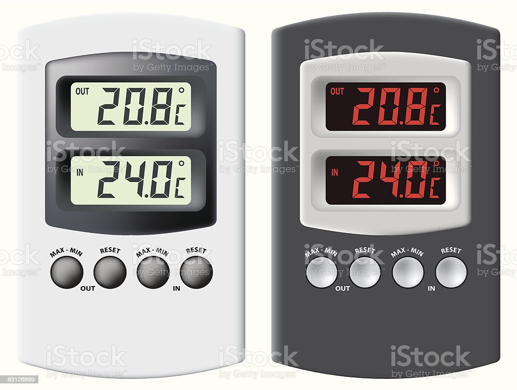 Electronic thermometer. royalty-free stock vector art