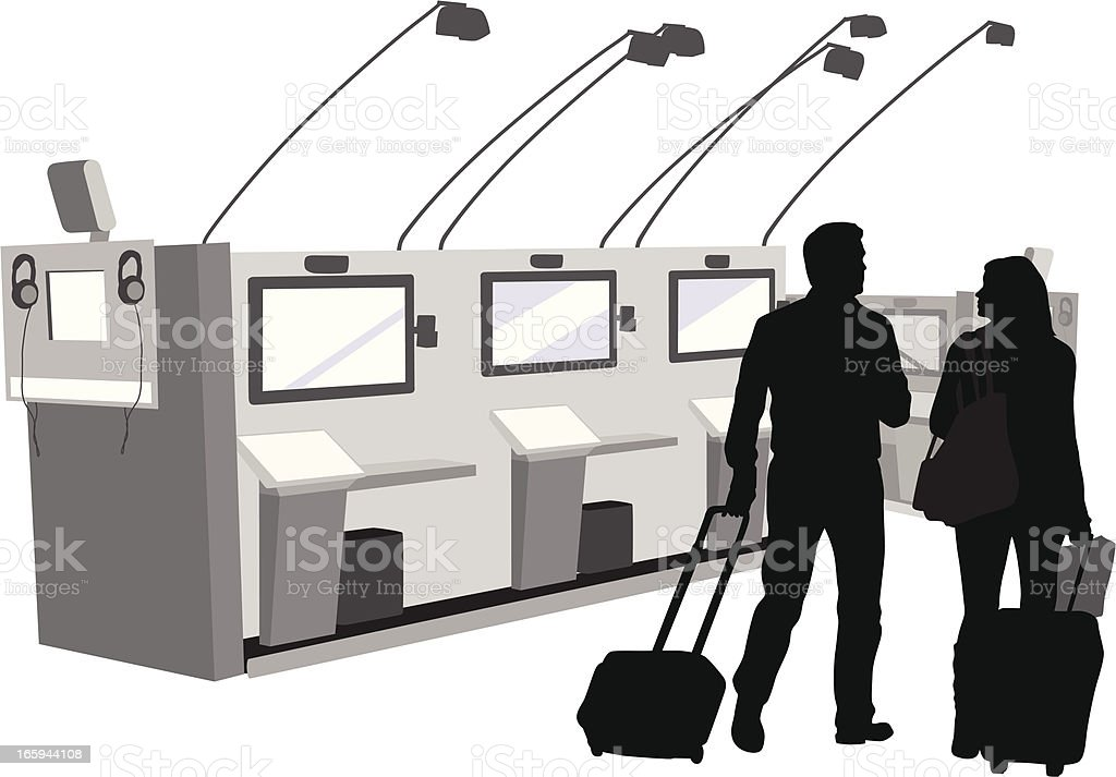 Electronic Travel Vector Silhouette royalty-free stock vector art