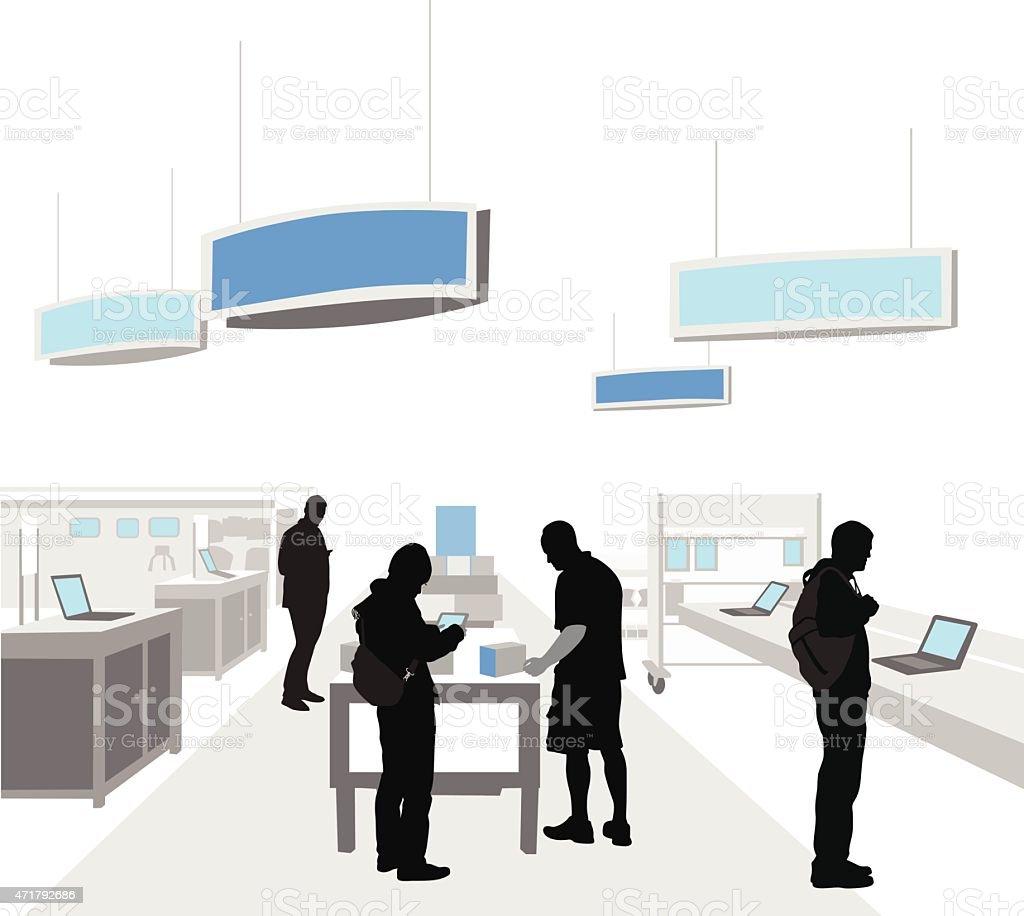 Electronics Giant vector art illustration