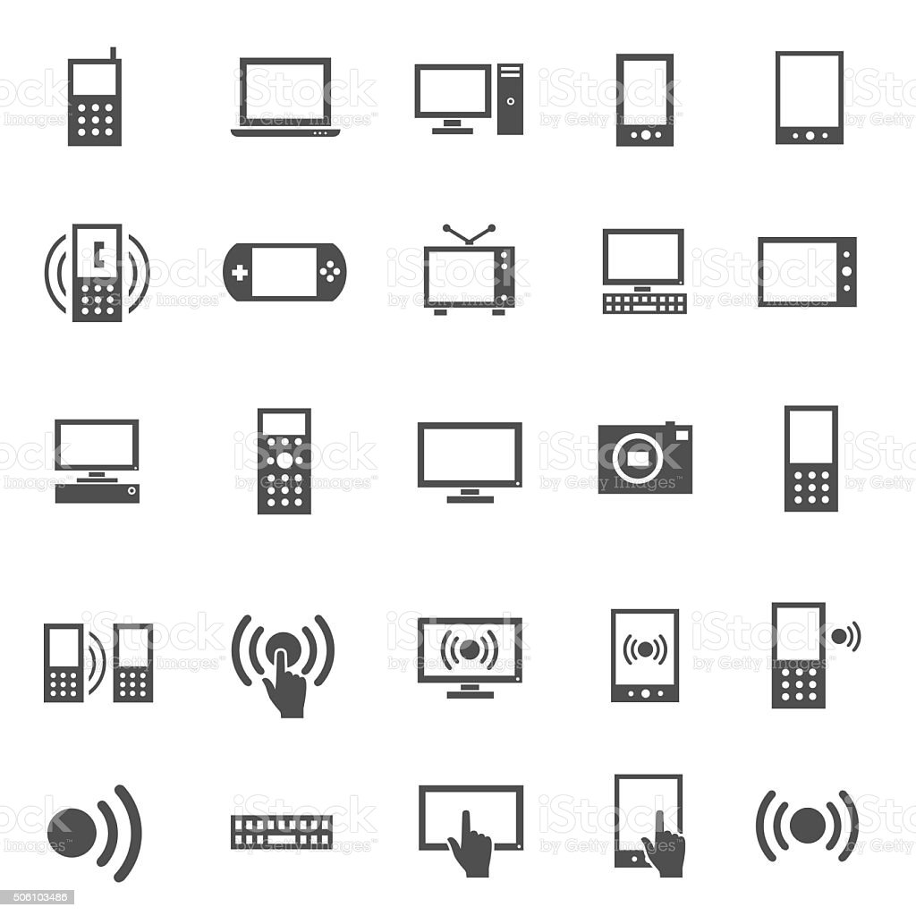 Electronics Icon Set vector art illustration