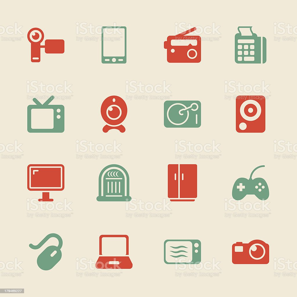 Electronics Icons - Color Series | EPS10 vector art illustration