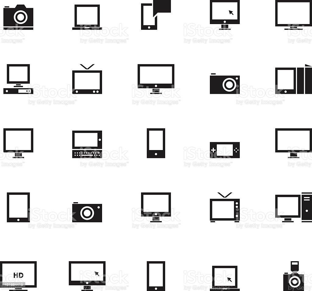 Electronics icons vector art illustration