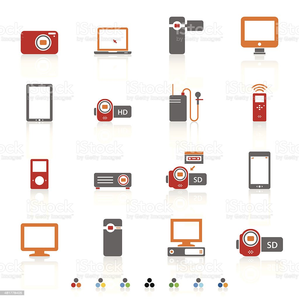 Electronics icons royalty-free stock vector art