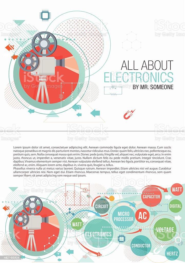 Electronics print design vector art illustration