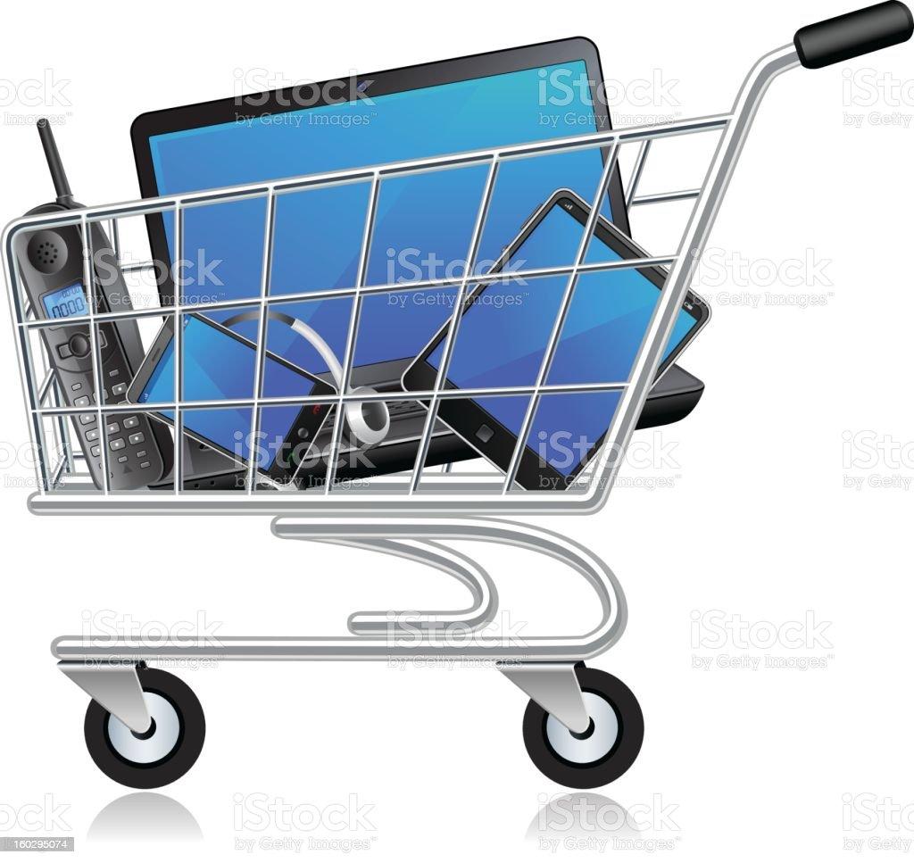 Electronics shopping royalty-free stock photo