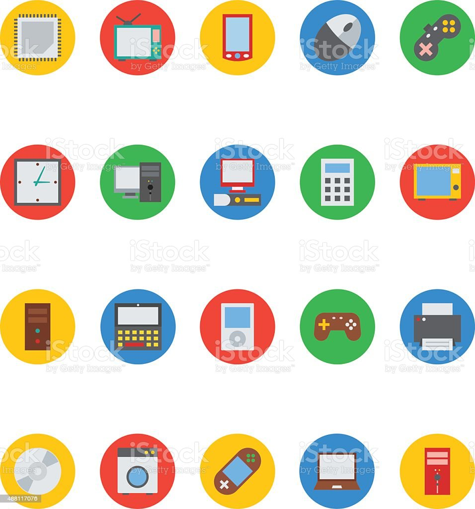 Electronics Vector Icons 1 vector art illustration