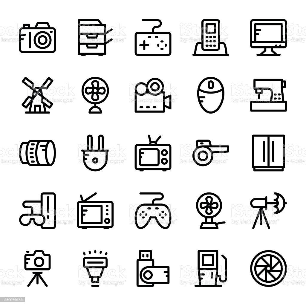 Electronics Vector Icons 2 vector art illustration