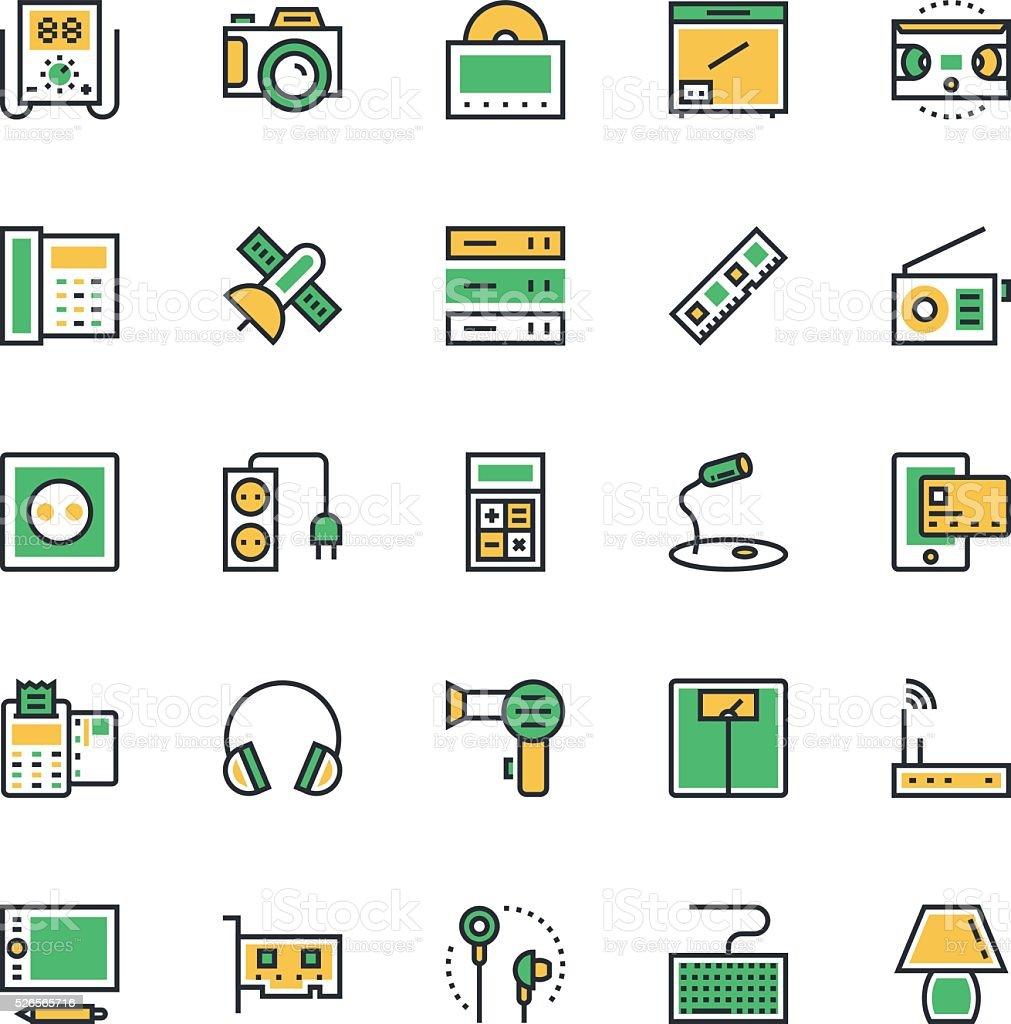 Electronics Vector Icons 4 vector art illustration
