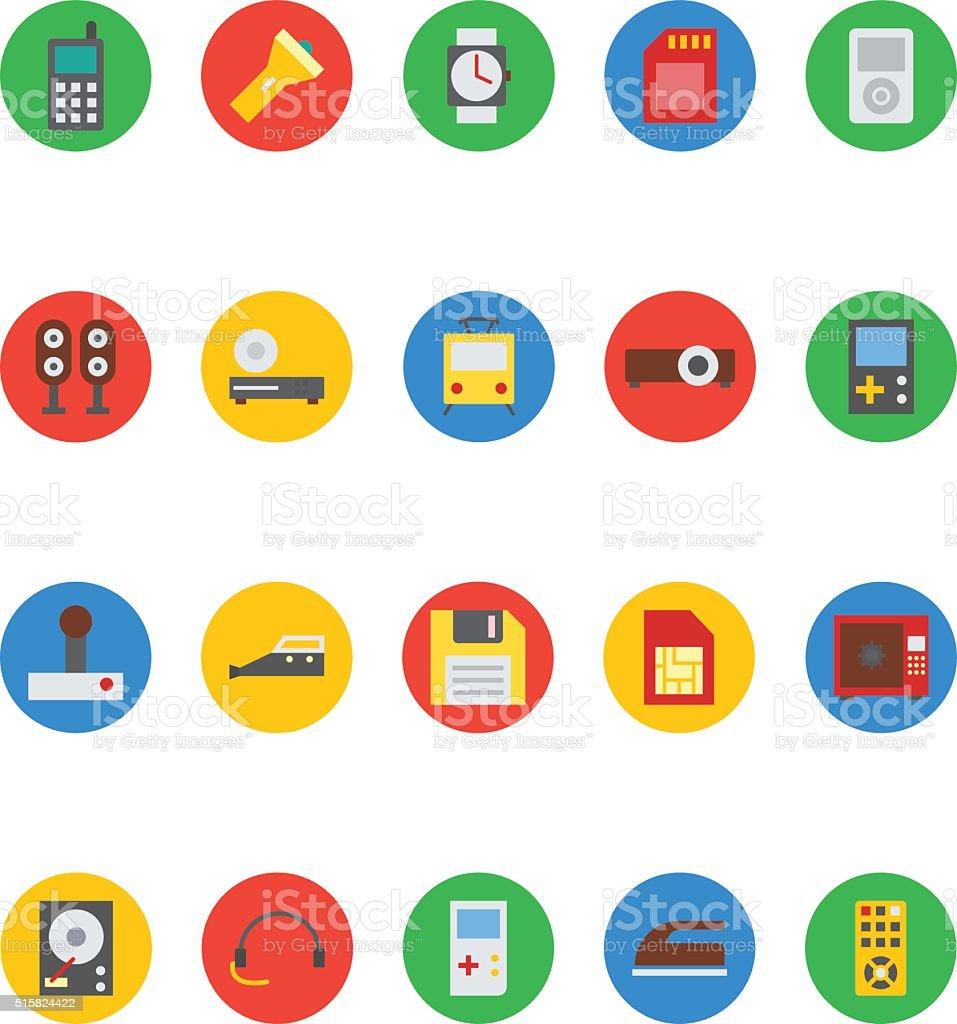 Electronics Vector Icons 6 vector art illustration