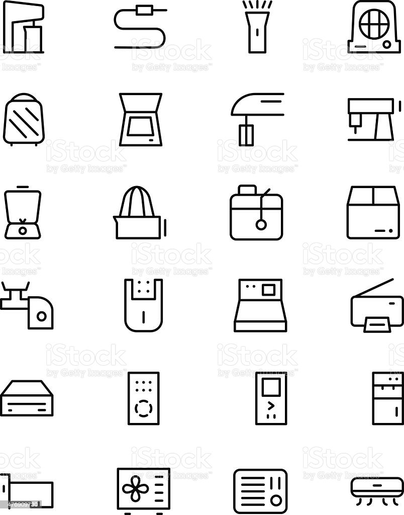 Electronics Vector Line Icons 4 vector art illustration