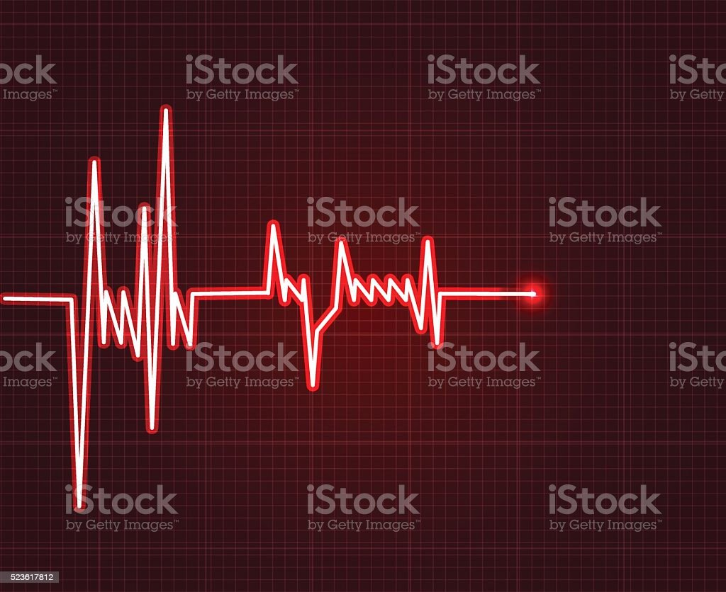 Electrowave heart beat, cardiogram. Pulse icon vector art illustration