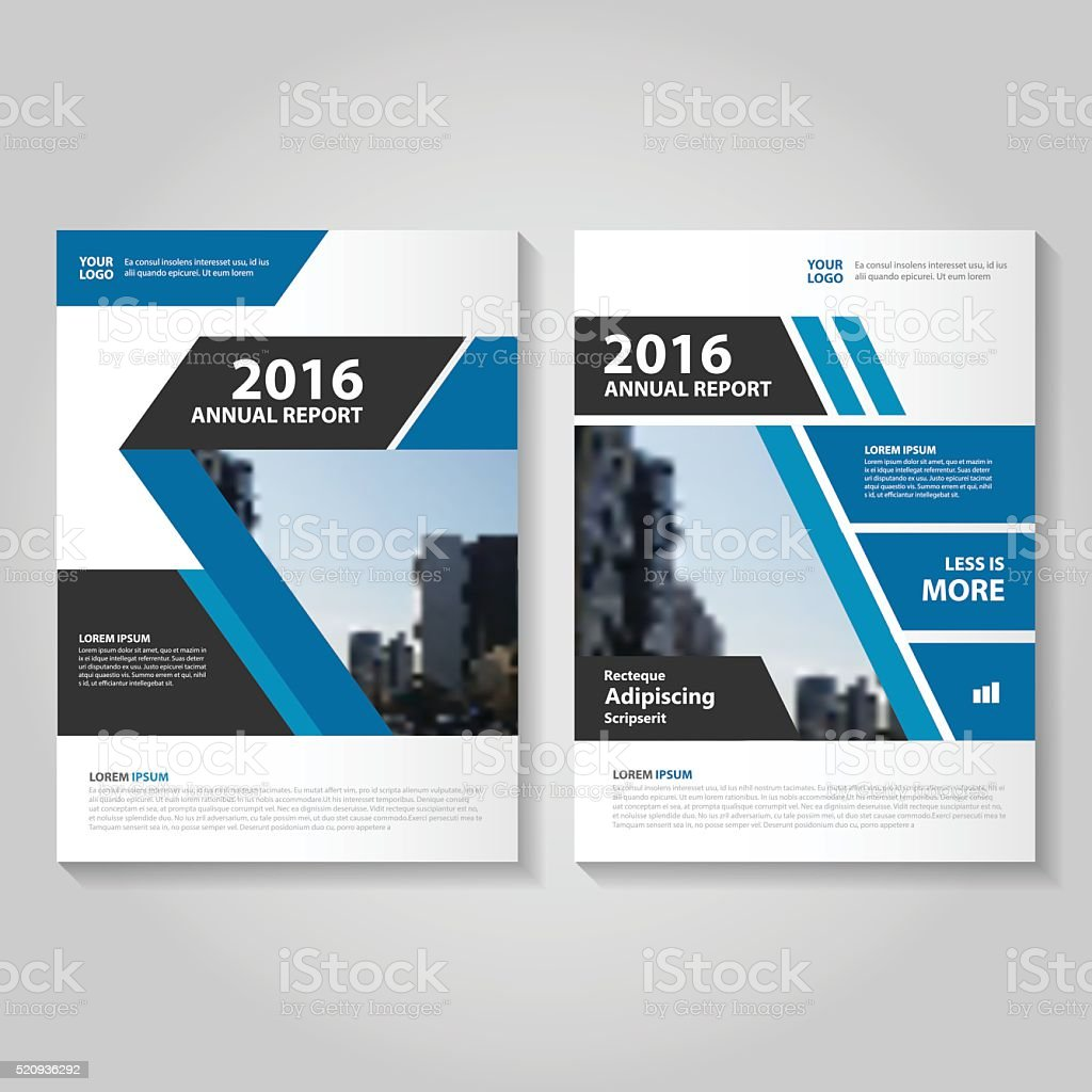 Elegance Blue Vector annual report Leaflet Brochure Flyer template design vector art illustration