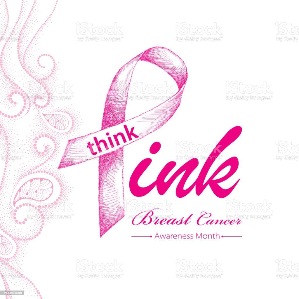 Elegance design for international woman health campaign. vector art illustration