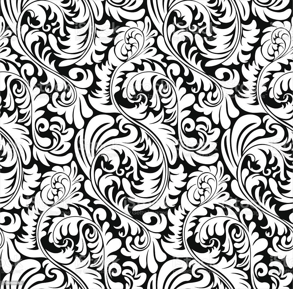Elegant abstract wallpaper pattern / background (tiles seamlessly) vector art illustration