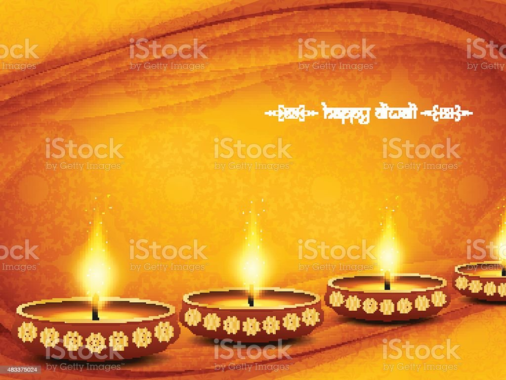 Elegant background design for diwali festival vector art illustration