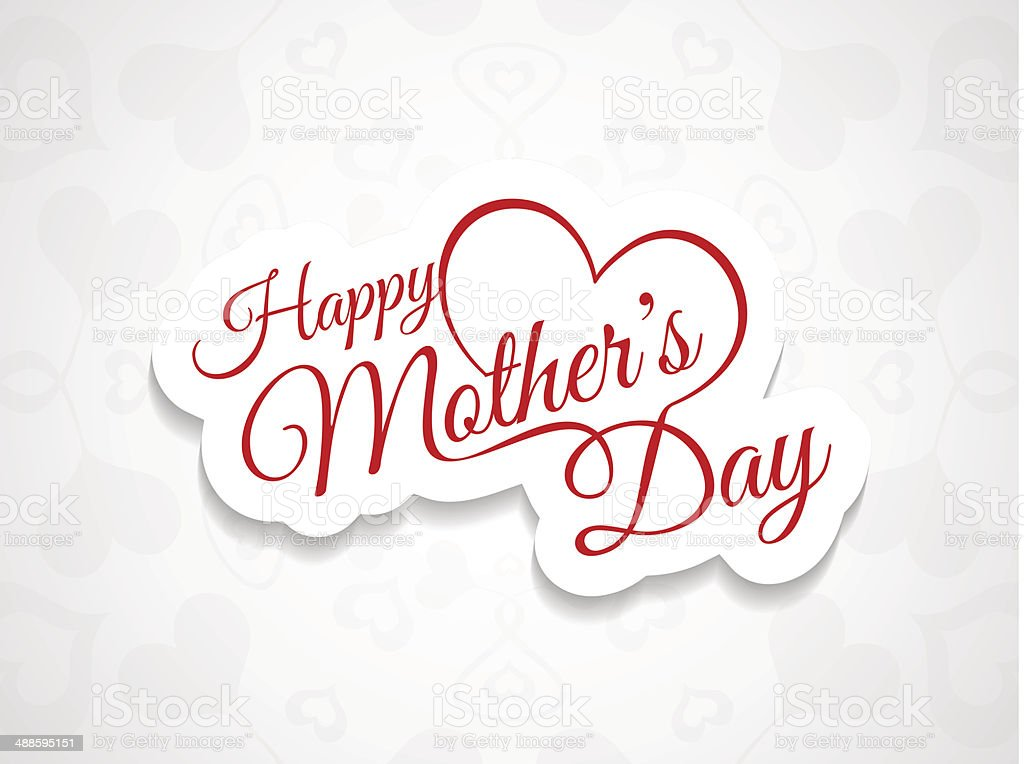 Elegant background design for mother's day vector art illustration