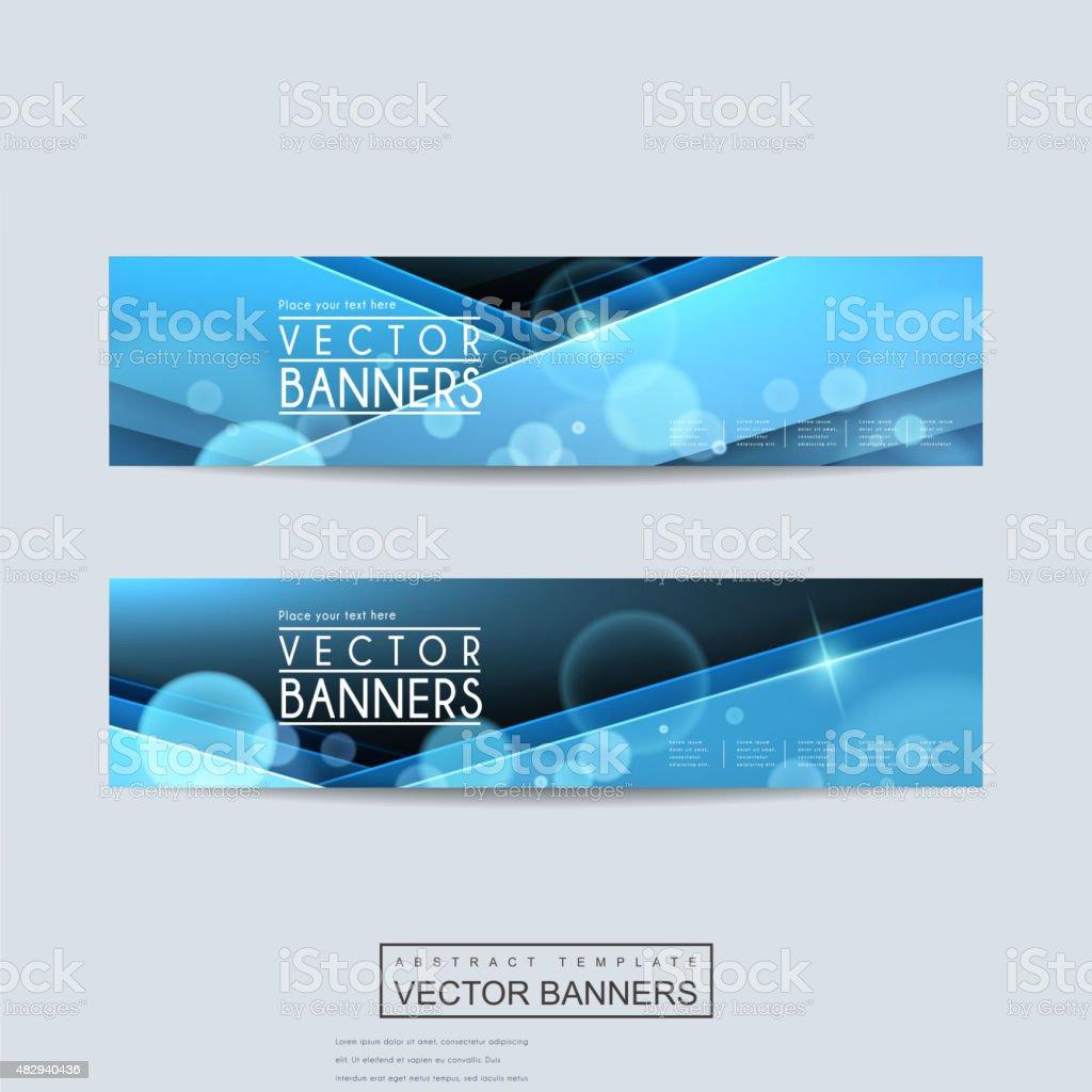 elegant banner template set design vector art illustration