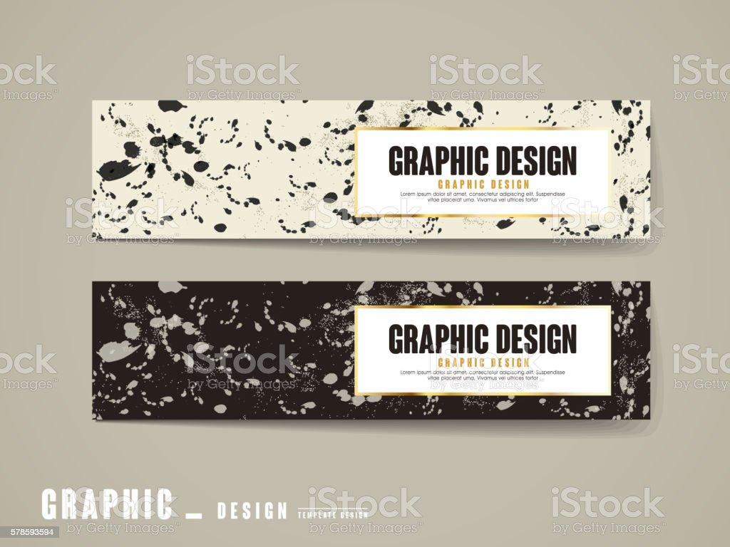 elegant banner template vector art illustration