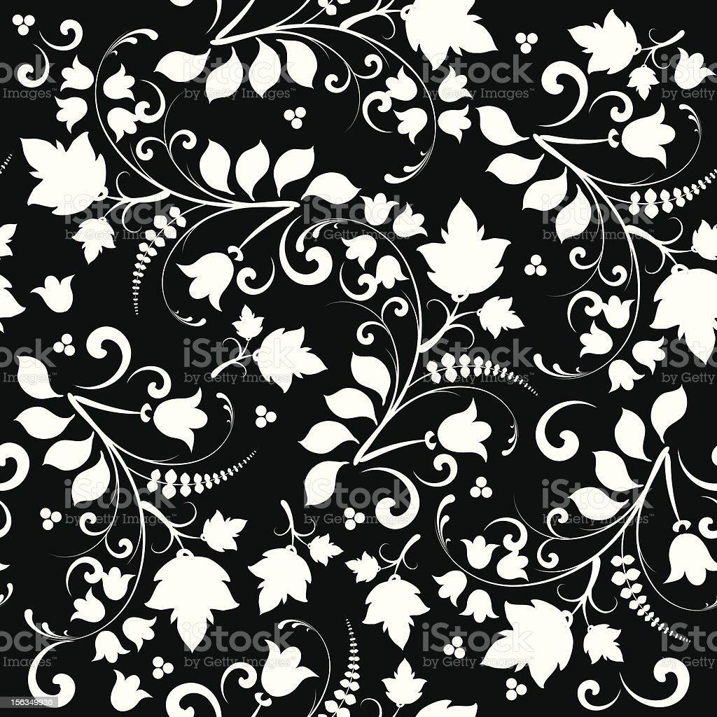 Elegant Black and white floral bakground royalty-free stock vector art