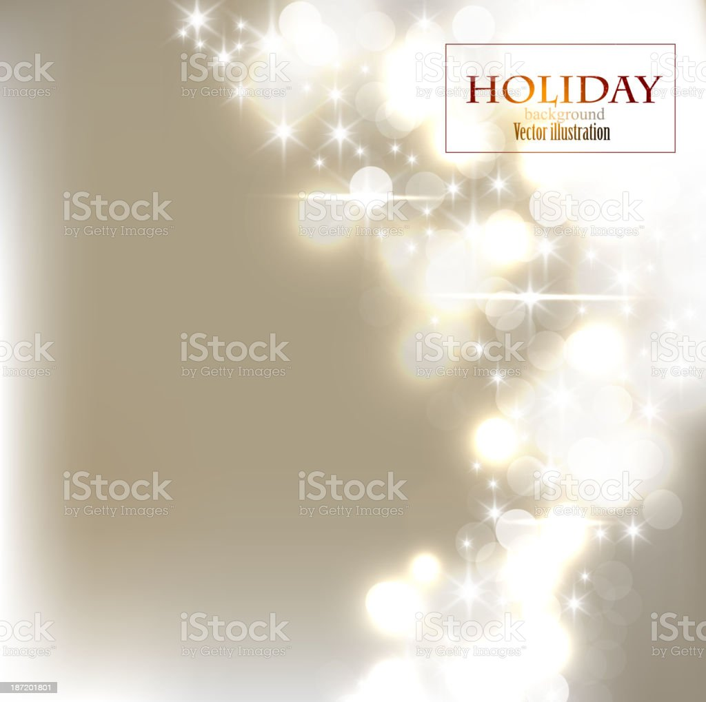 Elegant bokeh Christmas background with snowflakes royalty-free stock vector art
