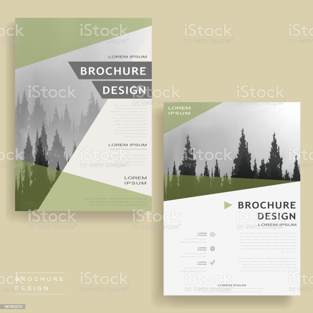 Elegant Brochure Template Stock Vector Art IStock - Elegant brochure templates
