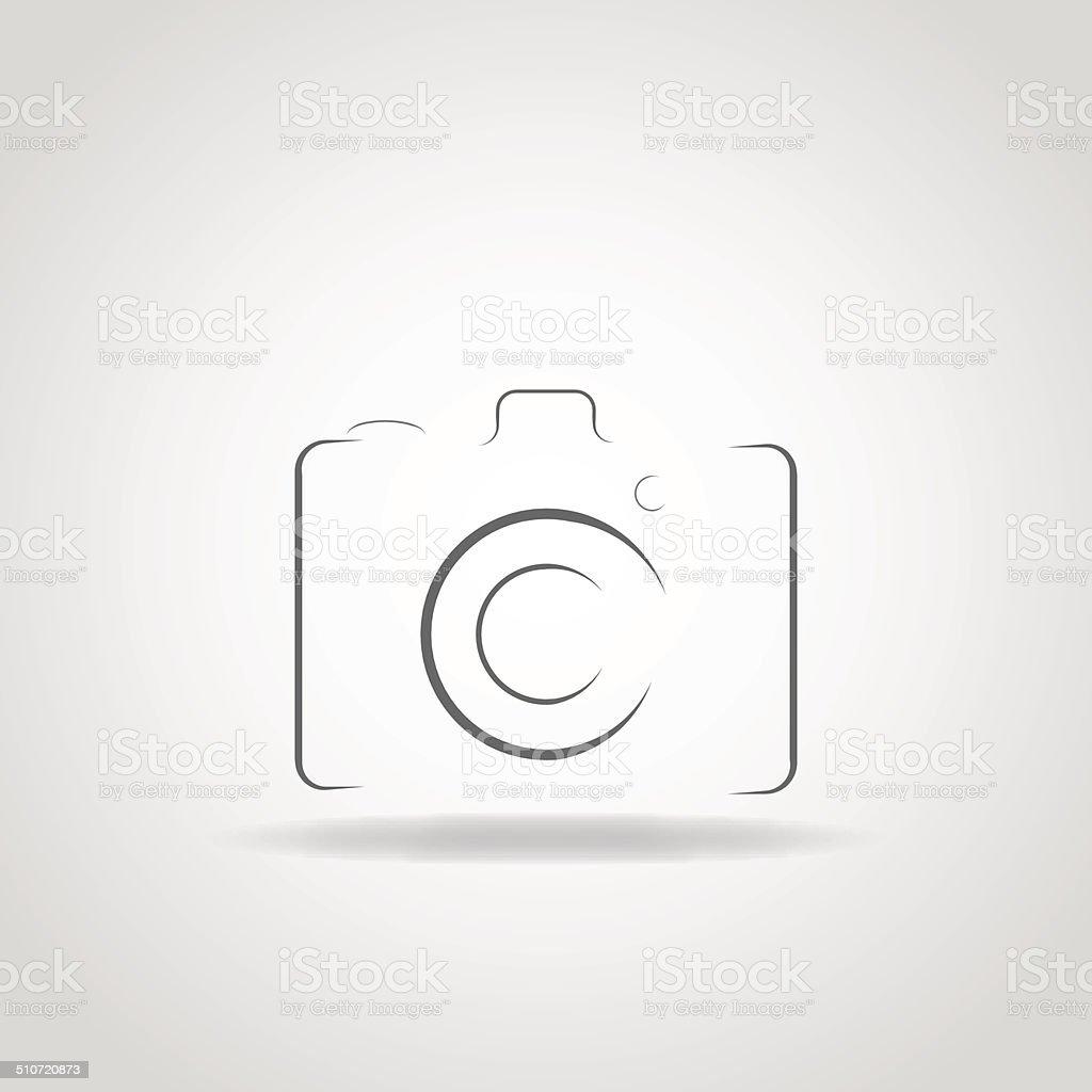 Elegant Camera Icon vector art illustration