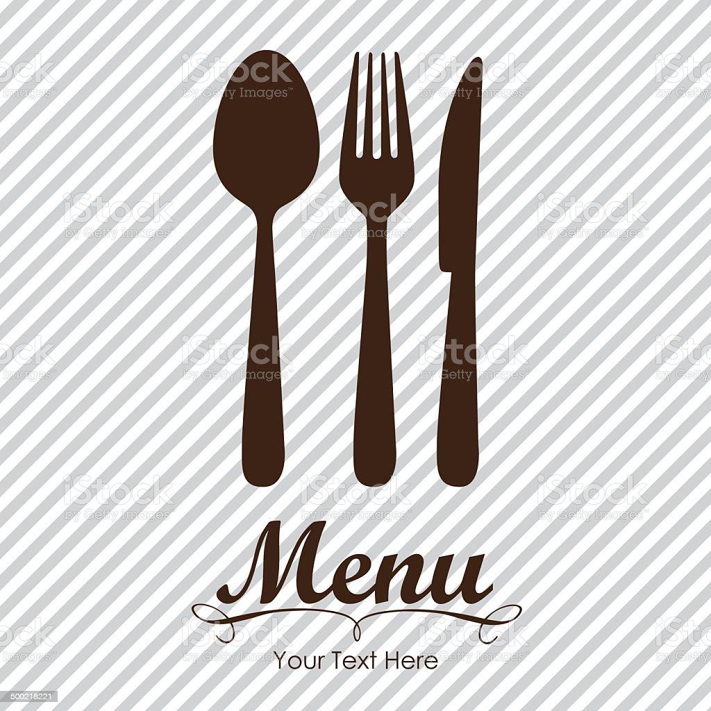 Elegant card for restaurant menu vector art illustration