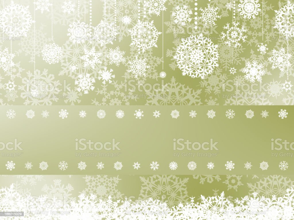 Elegant christmas background with snowflake. EPS 8 royalty-free stock vector art