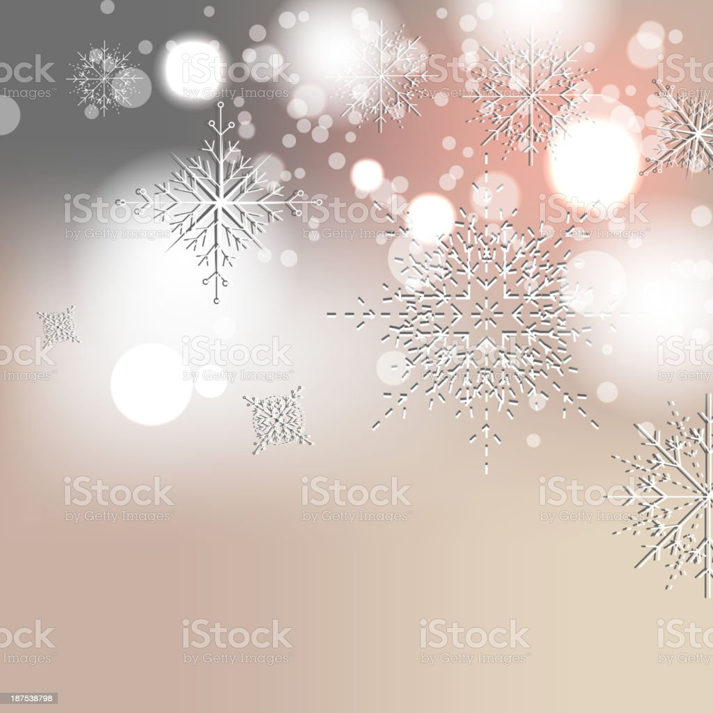 Elegant Christmas background with snowflakes royalty-free stock vector art