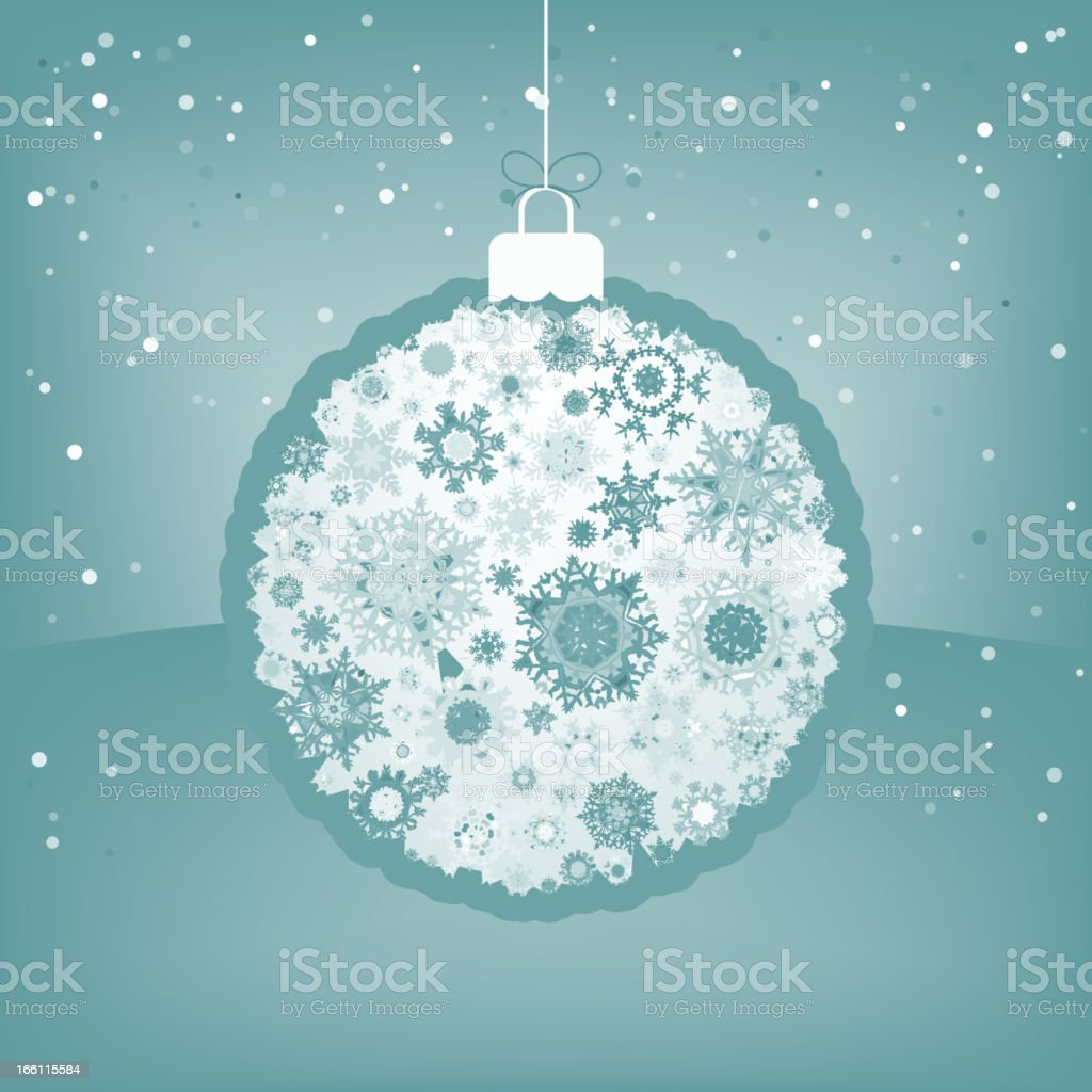 Elegant Christmas ball with greeting. EPS 8 royalty-free stock vector art