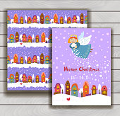 Elegant Christmas card with an envelope