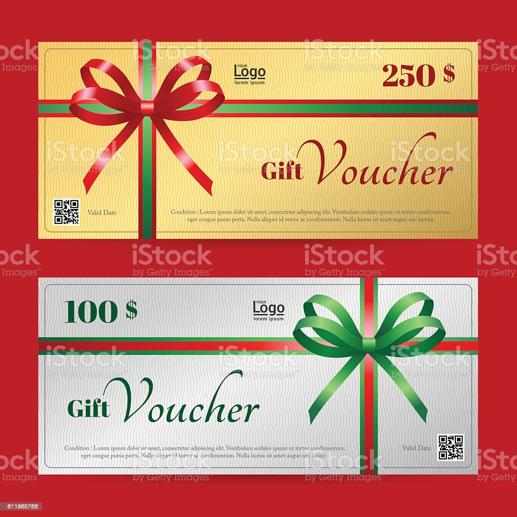 elegant christmas gift voucher or gift card template stock vector elegant christmas gift voucher or gift card template royalty stock vector art