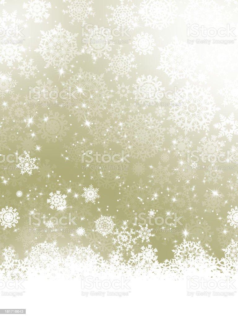 Elegant Christmas with snowflakes. EPS 10 royalty-free stock vector art