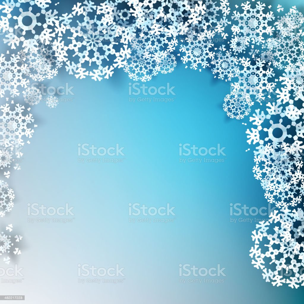 Elegant Christmas with snowflakes. EPS 10 royalty-free stock vector art