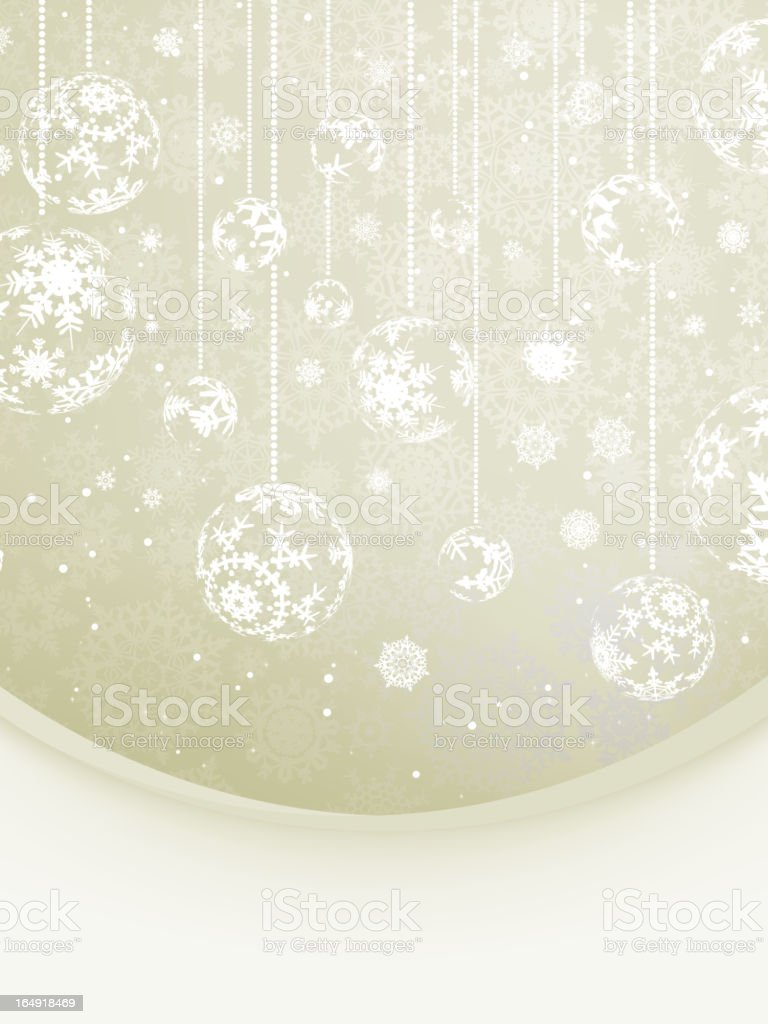 Elegant Christmas with snowflakes. EPS 8 royalty-free stock vector art
