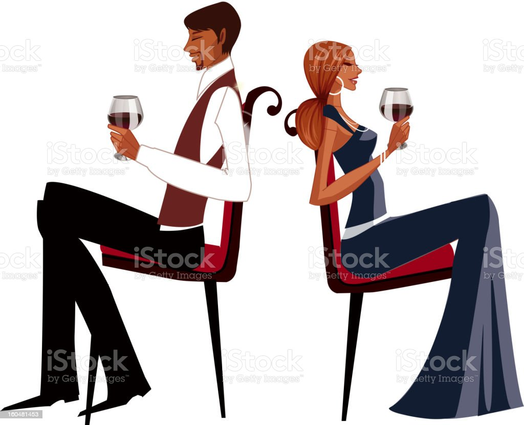 Elegant couple royalty-free stock vector art