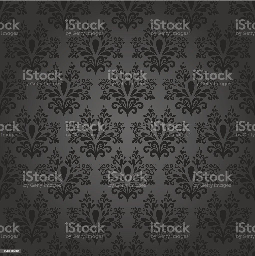 elegant dark seamless vector art illustration
