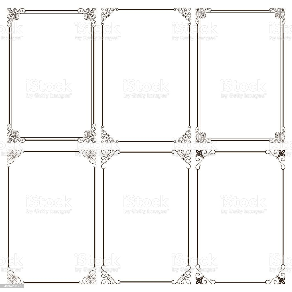 Elegant Decorative Frames vector art illustration