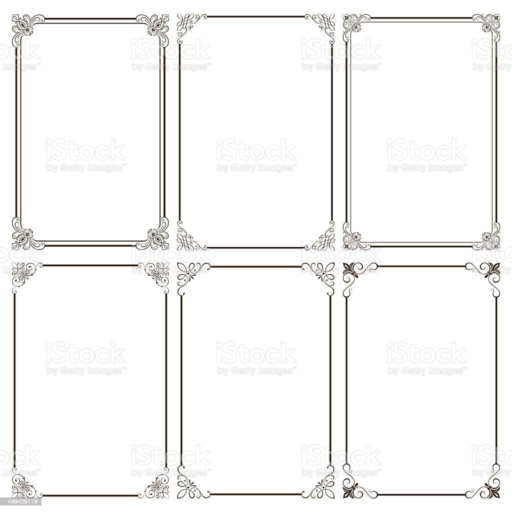 Elegant Decorative Frames vector art illustration