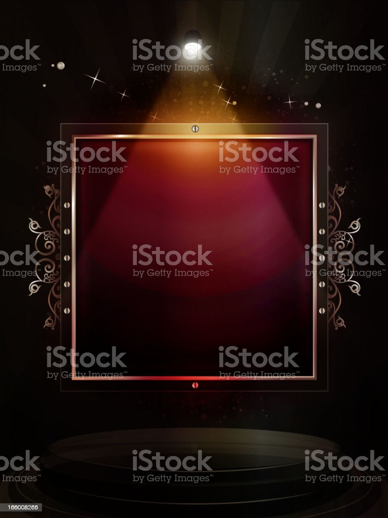Elegant Display under Spotlight royalty-free stock vector art
