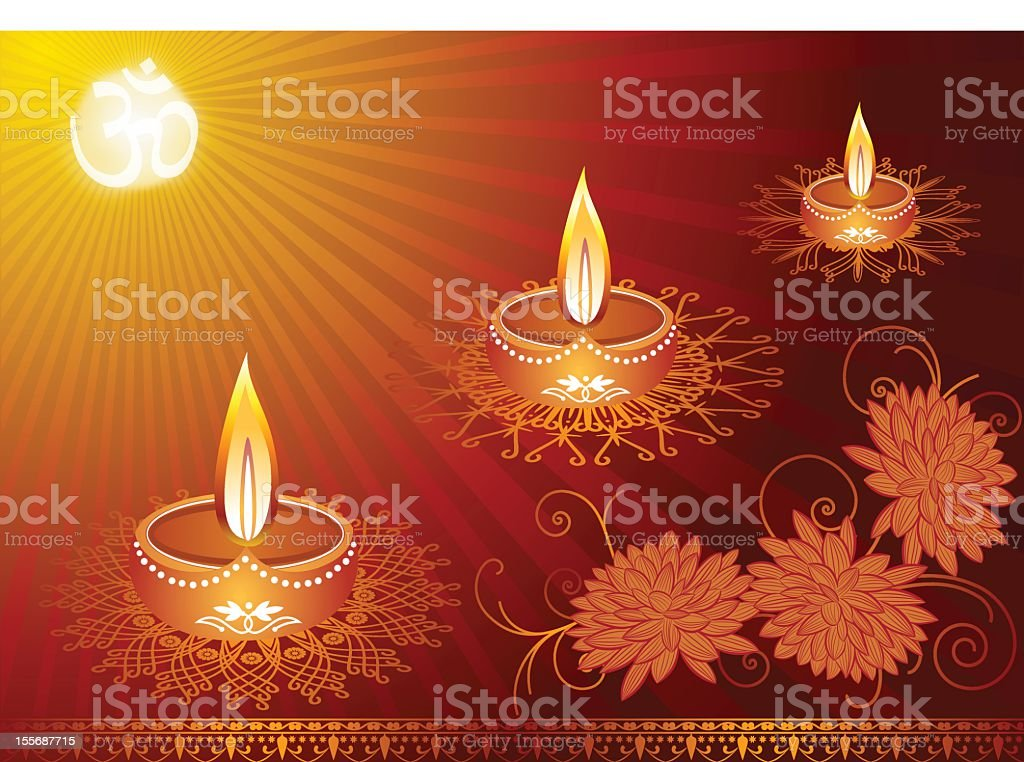 Elegant Diwali Decoration Background stock photo