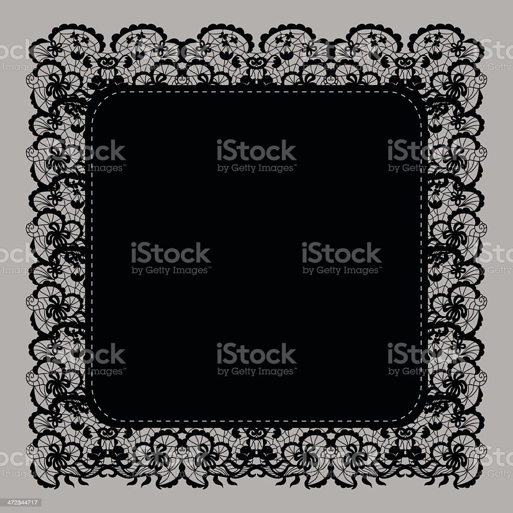 Elegant doily royalty-free stock vector art