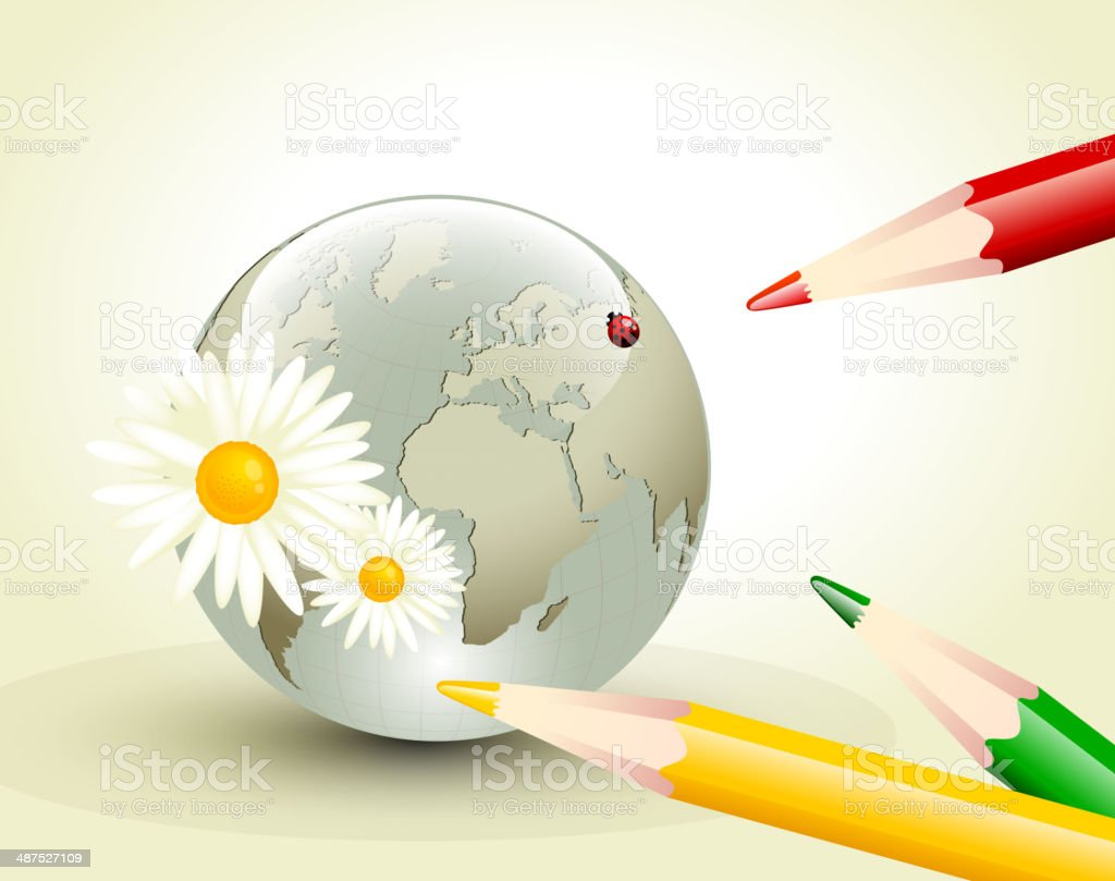 Elegante estilo de la composición de la tierra illustracion libre de derechos libre de derechos