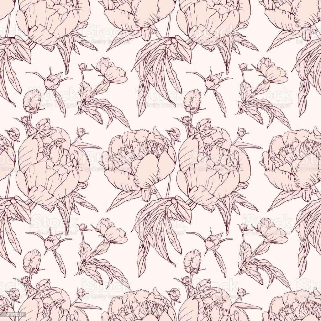 Elegant floral wallpaper royalty-free stock vector art