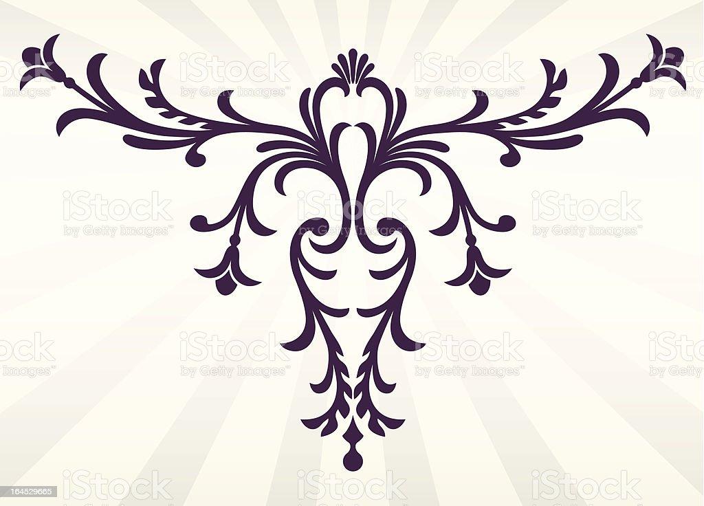 Elegant Flourish or Floral Scroll royalty-free stock vector art