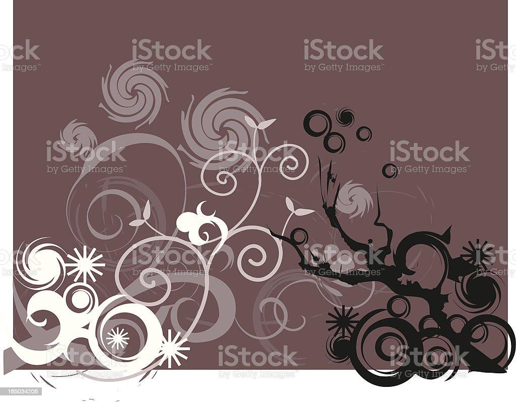 elegant flower background royalty-free stock vector art