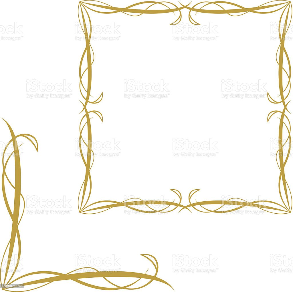 Elegant Frame and Corner Element royalty-free stock vector art
