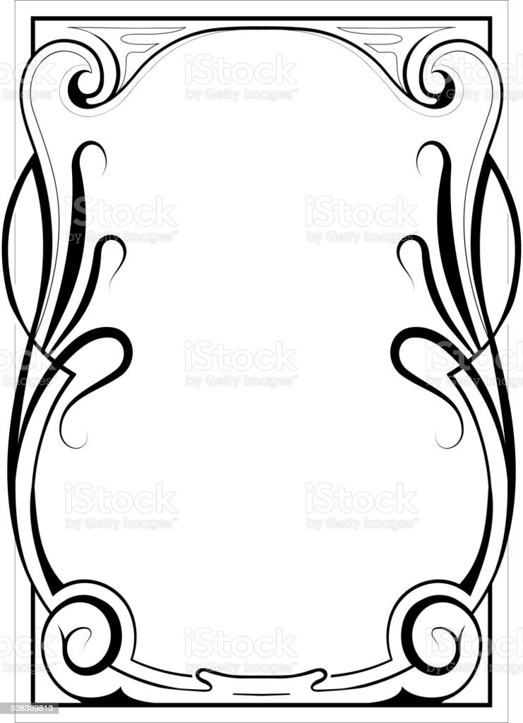 Elegant Frame Design stock vector art 538389813 | iStock