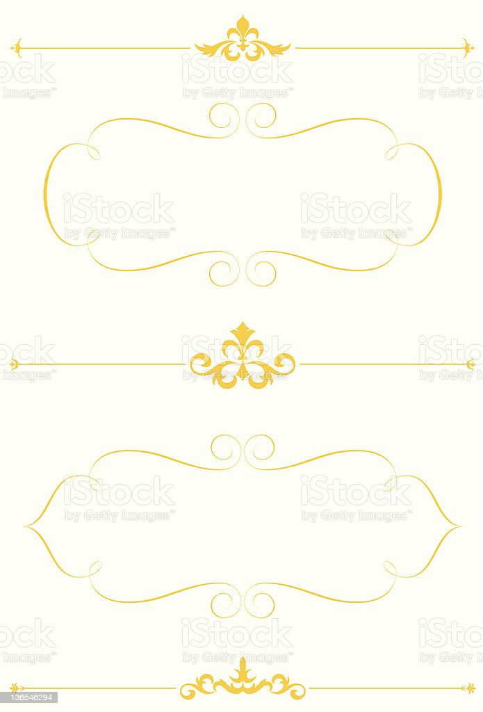Elegant frames and rules royalty-free stock vector art